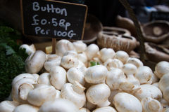 Mushrooms at market Royalty Free Stock Photo
