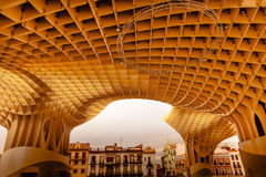 The Mushrooms Metropol Parasol Seville Andalusia Spain Stock Photos