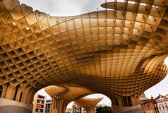 The Mushrooms Metropol Parasol Seville Andalusia Spain Royalty Free Stock Image