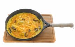 Mushrooms omelet Stock Images