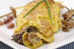Mushrooms omelette. Royalty Free Stock Image