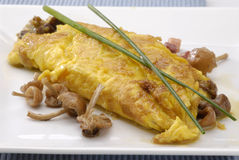 Mushrooms omelette. Royalty Free Stock Photo