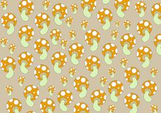 Mushrooms patterns Royalty Free Stock Image