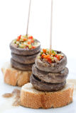 Mushrooms with pepper tapa Stock Photo