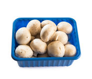 Mushrooms in a plastic package Royalty Free Stock Image