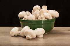 Mushrooms in a plate Stock Photos
