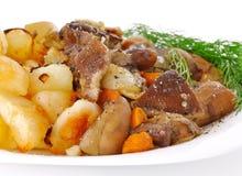 Mushrooms with potatoe Stock Image