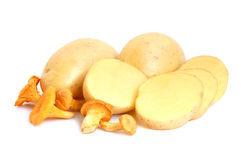 Mushrooms with potatos Royalty Free Stock Image