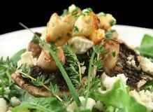 Mushrooms With Ricotta Cheese Stock Photo