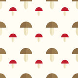 Mushrooms seamless pattern. Cute and simple mushroom background. Seamless pattern Royalty Free Stock Photos