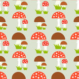 Mushrooms seamless pattern Stock Photo