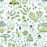 Mushrooms. seamless pattern Royalty Free Stock Images