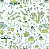 Mushrooms. seamless pattern Royalty Free Stock Images