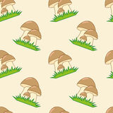 Mushrooms seamless texture Stock Photo