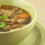 Mushrooms  soup Stock Photos