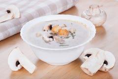 Mushrooms soup Stock Photography