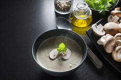 Mushrooms soup Royalty Free Stock Photo