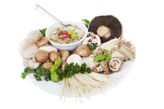 Mushrooms and soup Royalty Free Stock Photos