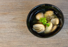Mushrooms soup.thai food Stock Images