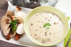 Mushrooms soup Royalty Free Stock Image