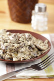 Mushrooms in sour cream Royalty Free Stock Image