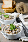 Mushrooms stewed with cream Royalty Free Stock Photography