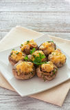 Mushrooms stuffed with mince and cheese Royalty Free Stock Photography