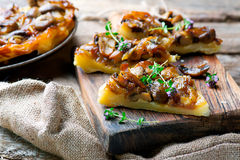 mushrooms tart Stock Photos