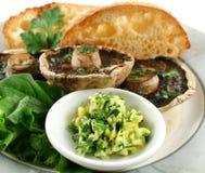 Mushrooms And Toast Royalty Free Stock Photo