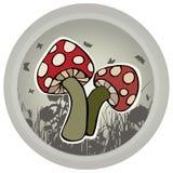 Mushrooms Vector Illustration. Stock Image