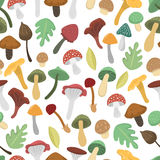 Mushrooms vector illustration seamless pattern Royalty Free Stock Photography