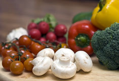 Mushrooms and Vegetables Stock Photography