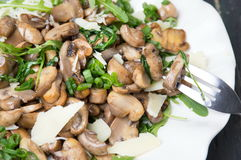 Mushrooms with vegetables on a plate Stock Photo
