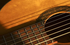 Music #1. Closeup of Guitar strings Royalty Free Stock Photography