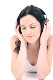 Music. Listening gently music Royalty Free Stock Photography