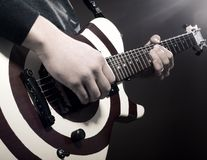 Music. An image of a part of electrical guitar royalty free stock image