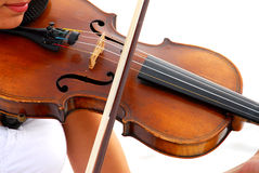 Music. Playing the violin at a wedding Royalty Free Stock Photography