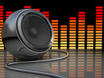 Music. Abstract 3d illustration of audio speaker and music spectrum Royalty Free Stock Photography