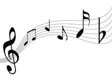 Music. Notes illustration on white background Stock Photography