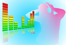 Music. The visualisation of having fun with good music Stock Photography