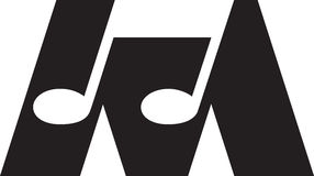 Music. A music note is made into an icon Stock Photography