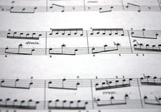 Music. Notes on white background Stock Photography