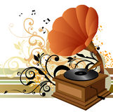 Music. Illustration drawing of music box Royalty Free Stock Photo