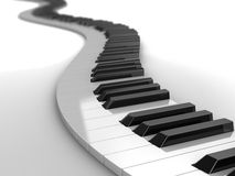 Music. 3d modern piano curves, music concept Royalty Free Stock Photography