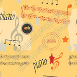 Music. Collagelike seamless pattern. Music theme Royalty Free Stock Photography