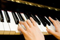 Music. Playing the piano as a form of relaxation and passion Royalty Free Stock Photo