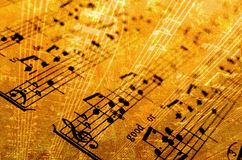Music. Old sheet music abstract background stock images