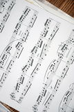 Music. Notes on the table Royalty Free Stock Photography