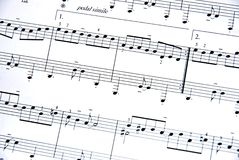 Music. Notes on white background Stock Images