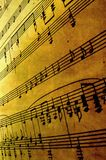Music. Old sheet music abstract image royalty free stock photos
